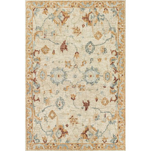Julian Ivory and Multicolor Runner: 2 Ft. 6 In. x 7 Ft. 6 In.  Rug