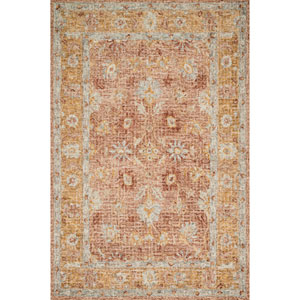 Julian Terracotta and Gold Runner: 2 Ft. 6 In. x 7 Ft. 6 In.  Rug