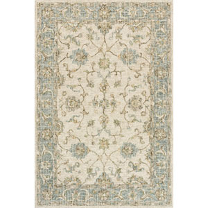 Julian Ivory and Spa Runner: 2 Ft. 6 In. x 7 Ft. 6 In.  Rug