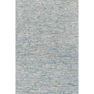 Juneau Grey and Blue Rectangular: 3 Ft. 6 In. x 5 Ft. 6 In.  Rug