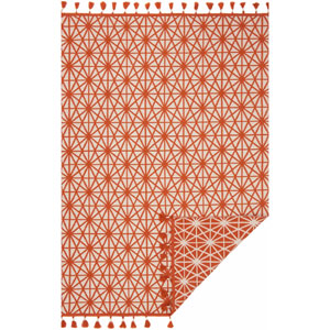 Kahelo Ivory and Coral Rectangular: 2 Ft. 3-Inch x 3 Ft. 9-Inch Rug