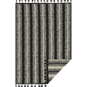 Kahelo Black and Gray Rectangular: 2 Ft. 3-Inch x 3 Ft. 9-Inch Rug