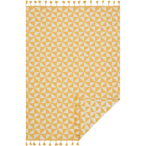 Kahelo Yellow and Ivory Rectangular: 7 Ft. 9-Inch x 9 Ft. 9-Inch Rug