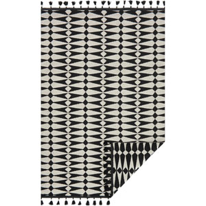 Kahelo Black and Ivory Rectangular: 2 Ft. 3-Inch x 3 Ft. 9-Inch Rug
