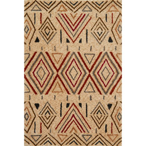 Kalliope Sand and Rust Rectangular: 3 Ft. 6-Inch x 5 Ft. 6-Inch Rug