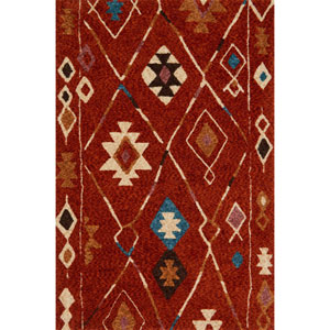 Kalliope Spice and Blue Rectangular: 7 Ft. 9-Inch x 9 Ft. 9-Inch Rug