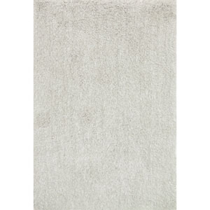 Kendall Shag Silver Rectangular: 2 Ft. 3-Inch x 3 Ft. 9-Inch Rug