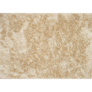 London Shag Beige and Ivory Rectangular: 2 Ft. 3 In. x 3 Ft. 9 In. Rug