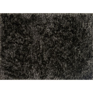 London Shag Charcoal and Silver Rectangular: 2 Ft. 3 In. x 3 Ft. 9 In. Rug