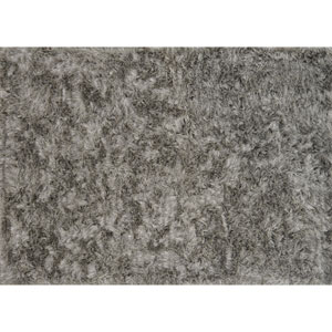 London Shag Silver Rectangular: 2 Ft. 3 In. x 3 Ft. 9 In. Rug
