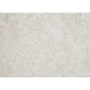 London Shag White Rectangular: 2 Ft. 3 In. x 3 Ft. 9 In. Rug