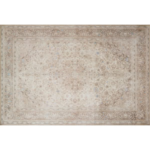 Loren Sand and Taupe Rectangular: 2 Ft. 3 In. x 3 Ft. 9 In.