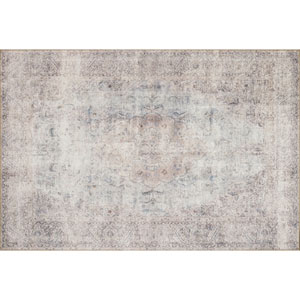 Loren Silver and Slate Rectangular: 2 Ft. 3 In. x 3 Ft. 9 In.