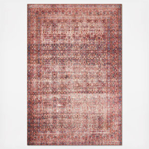 Loren Eggplant and Crimson Rectangular: 8 Ft. 4 In. x 11 Ft. 6 In.  Rug