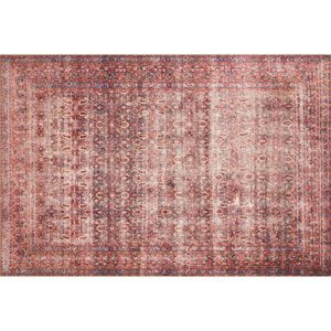 Loren Eggplant and Crimson Rectangular: 7 Ft. 6 In. x 9 Ft. 6 In.