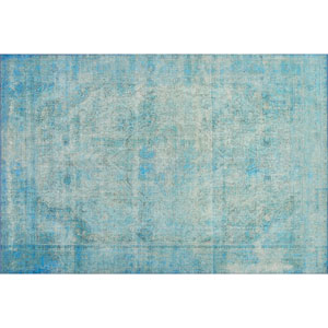 Loren Aqua Rectangular: 2 Ft. 3 In. x 3 Ft. 9 In.