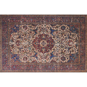 Loren Sand and Multicolor Rectangular: 2 Ft. 3 In. x 3 Ft. 9 In.
