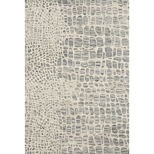 Masai Silver and Gray Rectangular: 7 Ft. 9 In. x 9 Ft. 9 In. Rug