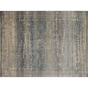 Millennium Grey and Blue Rectangular: 2 Ft. 7 In. x 4 Ft. Rug