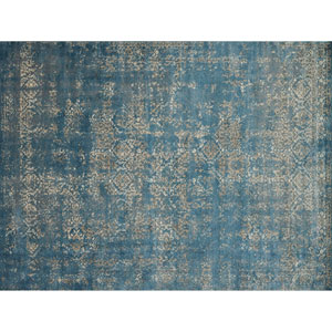 Millennium Blue and Taupe Square: 1 Ft. 6 In. Rug
