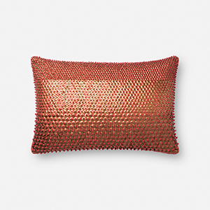 Rust and Gold 13 In. x 21 In. Pillow Cover