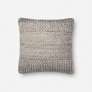 Grey 18 In. x 18 In. Pillow Cover