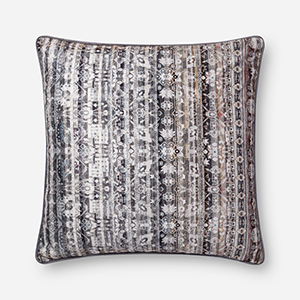Grey 22 In. x 22 In. Pillow Cover