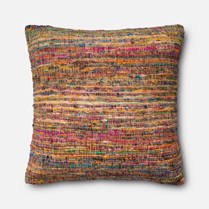 Multicolor 22-Inch Pillow with Poly Insert