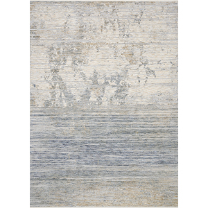 Pandora Ivory and Blue Square: 1 Ft. 6 In. x 1 Ft. 6 In. Rug