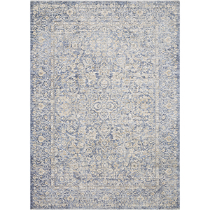 Pandora Blue and Gold Runner: 2 Ft. 6 In. x 16 Ft. Rug