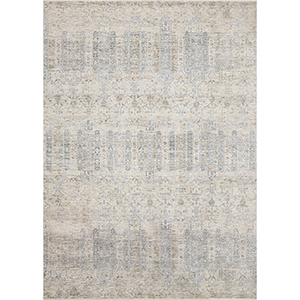 Pandora Ivory and Mist Round: 7 Ft. 10 In. x 7 Ft. 10 In. Rug