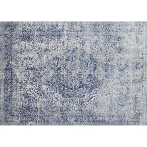 Patina Blue and Stone Rectangular: 2 Ft. 7 In. x 4 Ft. Rug