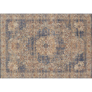 Porcia Ivory and Beige Square: 1 Ft. 6 In. Rug