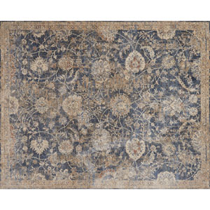 Porcia Blue and Beige Square: 1 Ft. 6 In. Rug