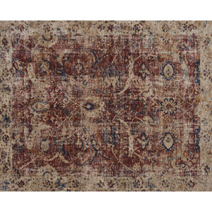 Porcia Red and Beige Square: 1 Ft. 6 In. Rug