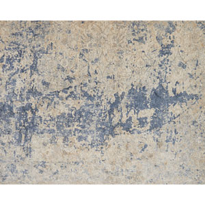 Porcia Beige and Blue Square: 1 Ft. 6 In. Rug