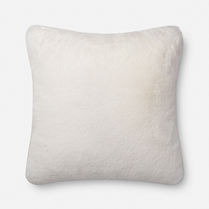 White 22 In. x 22 In. Throw Pillow with Poly Fill