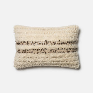 Ivory 13 x 21-Inch Square Throw Pillow with Polyester Filling