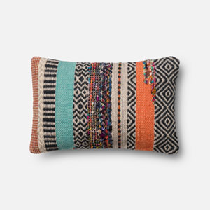 Multicolor 13 x 21-Inch Square Throw Pillow with Polyester Filling