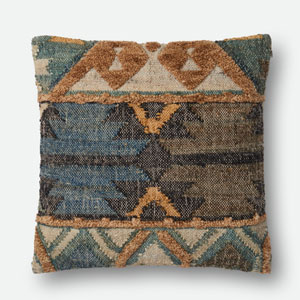 Multicolor 22 In. x 22 In. Pillow Cover with Poly Insert