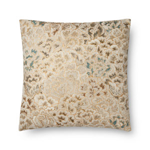 Multicolor 22 In. Pillow with Poly Fill