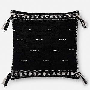 Justina Blakeney Black 22 In. x 22 In. Throw Pillow with Poly Fill