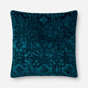 Justina Blakeney Blue 22 In. x 22 In. Throw Pillow with Poly Fill