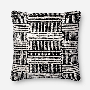 Justina Blakeney Black and White 22 In. x 22 In. Throw Pillow with Poly Fill