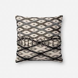 Black and White 18 In. x 18 In. Throw Pillow with Poly Fill