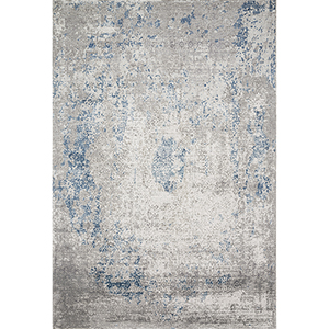 Sienne Dove and Ocean Square: 1 Ft. 6 In. x 1 Ft. 6 In. Rug