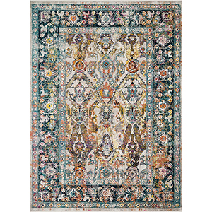 Cielo Stone and Teal Rectangular: 7 Ft. 10 In. x 10 Ft. 6 In. Rug