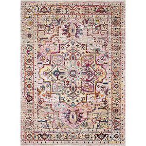 Cielo Natural and Multicolor Rectangular: 3 Ft. 11 In. x 5 Ft. 7 In. Rug