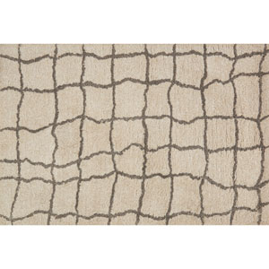 Tangier Sand and Taupe Shag Rectangular: 7 Ft. 9-Inch x 9 Ft. 9-Inch Area Rug