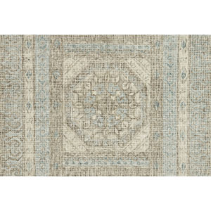 Tatum Stone and Blue Square: 1 Ft. 6 In. Rug